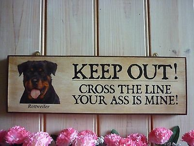 Personalised Rottweiler Sign Unusual Rottie Gift Yard Sign Dog Sign House Signs