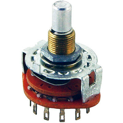 Alpha 4 Position, 3 Pole Rotary Switch, Make Before Break