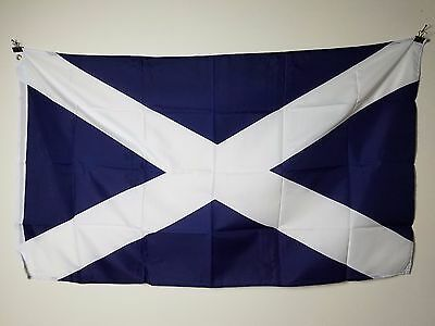 SCOTLAND CROSS 3X5 ft Country FLAG Lightweight 100% Polyester w/ Brass Grommets