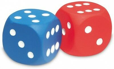 Learning Resources Foam Dot Dice Large Dense Red/Blue BRAND NEW FREE SHIPPING