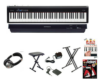 Roland FP-30 BK Digital Piano in Black Deluxe Package (FP30 FP 30)