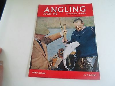 Vintage Fishing Magazine AUGUST 1960 - ANGLING  + Illustrated + Advertising