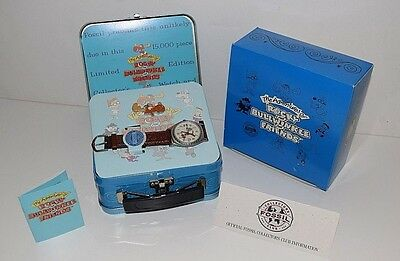 Vintage Rocky & Bullwinkle Fossil Watch-USED-With Metal Case and all Accessories