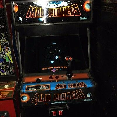 Mad Planets arcade machine gottlieb original dedicated rare