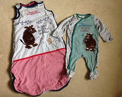Gruffalo Sleeping Bag (0-6 Months) And Sleepsuit (0-3 Months)