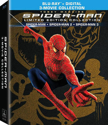 SPIDER-MAN ORIGINS COLLECTION 1 2 and 3  - BLU RAY - Region free