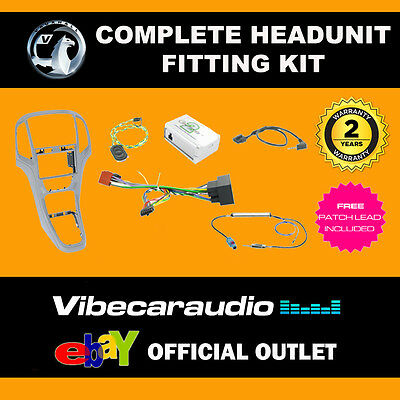 Connects2 CTKVX05 Vauxhall Astra J 2010 Silver Complete Radio Installation Kit