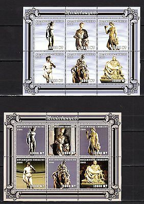 Mozambique 2001 Michelangelo Sculpture MNH -(V-7)