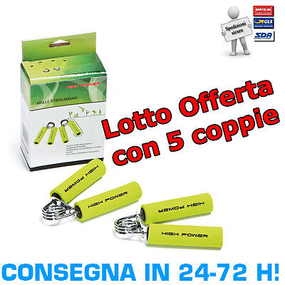 Lotto 5 Paia Hand Grips (Totale 10pz) High Power Manopole Molle Stringimano kit
