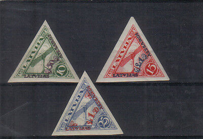 Latvia 1931 Air Charity set imperf very lightly mounted mint