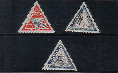 Latvia 1933 Air Charity set very lightly mounted mint