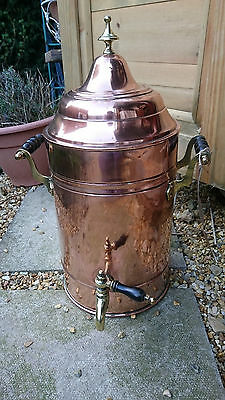 Stunning Antique 1800s Country House Harrington Copper and Brass Tea Urn