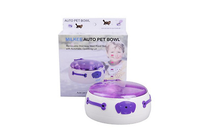 Automatic Pet Feeder Infrared Sensor Operated Dog Cat Bowl Auto Open/Close NEW