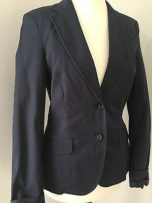 esprit damen blazer jacke dunkelblau blau gr 34 top. Black Bedroom Furniture Sets. Home Design Ideas