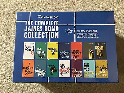 The Complete James Bond Collection Book Set Vintage 007 14 - Books - Brand new