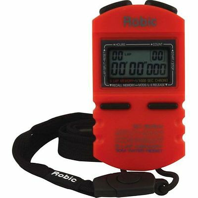 Quickcar Racing Products 51-037 Robic Stopwatch Digital 12 Lap Memory Multi Mode