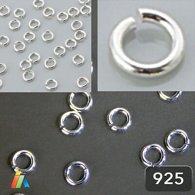 925 STERLING SILVER  0PEN JUMP RINGS Jewellery Making Findings 0,8mm Wire