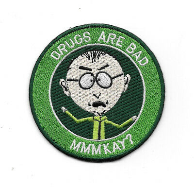 South Park TV Series Mr. Mackey Saying Drugs Are Bad MMMKAY? Patch NEW UNUSED