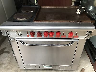 "Vulcan 36"" Electric Two Burner Range With 24"" Griddle And Oven - Local Pick Up"