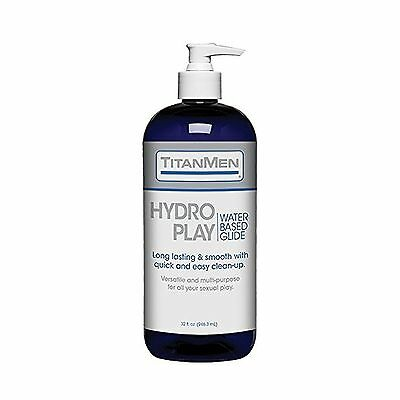 Doc Johnson Titanmen Hydro Play Water Based Glide 32 Fluid Ounce New
