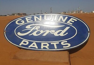 Original 1930 Old Vintage Rare Genuine Ford Parts Ad Porcelain Enamel Sign Board