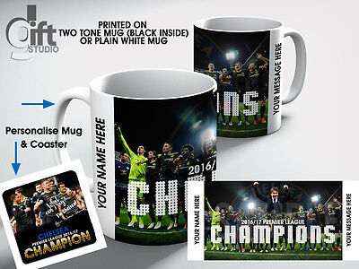 Personalised CHELSEA Football Club. Premier League 2016/17 Champion  Mug gift