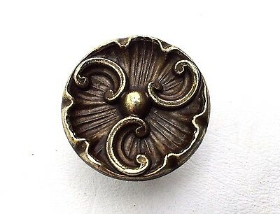 brass antique hardware vintage drawer pull Cabinet knob french provincial