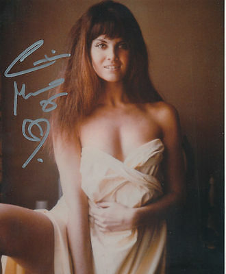 Caroline Munro In Person Signed Photo - BEAUTIFUL!!!!! - AG198