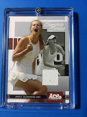 MARIA SHARAPOVA 2005 SIGNATURE SERIES WIMBELDON WORN DRESS Tennis Card AA-PROMO