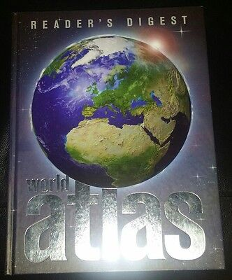 Rare Collectable Readers Digest First Edition World Atlas Hardcover Book 2004