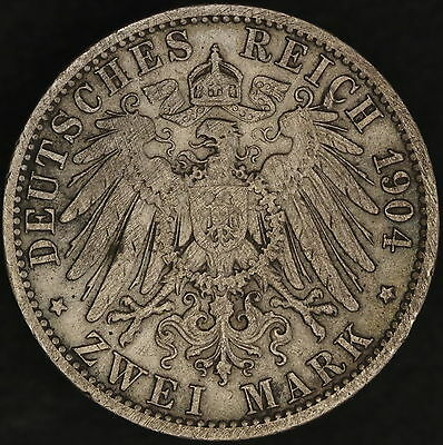 German States - Prussia: 2 mark 1904 A