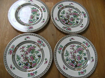 """Crown Ducal Indian Tree 7"""" China Tea Plates x 4 Good Condition"""