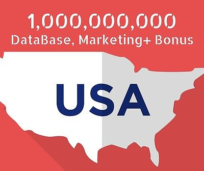 DataBase marketing email List+ Bonus Programs 1,000 Million