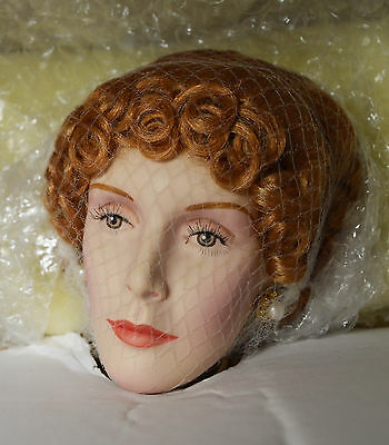 """NIB 23"""" Bisque Porcelain Doll Lady Constance Paul Cress Peter Coe Limited Ed."""