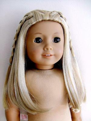 "American Girl Doll Kailey Doll Blonde Braided 18"" doll Wig BIN"