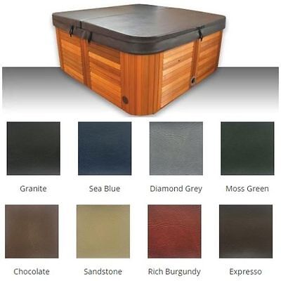 Australian Made lockable Hard (1.91m x 1.91m) Insulated Spa Cover-Colour Granite