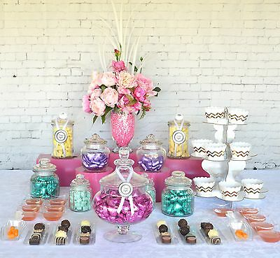 Lolly Jars Candy Buffet x 34 Piece Set Apothecary Jars Birthday Dessert Table