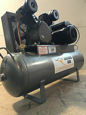 Air Compressor Australian Made 58L 15 CFM Cast Iron Pump 240V Single Phase 3HP