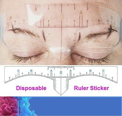 Disposable Eyebrows Rulers Stickers