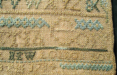 RARE,DATED REV.WAR PERIOD 1700s SAMPLER FROM PROMINENT COIT FAMILY-NEW LONDON