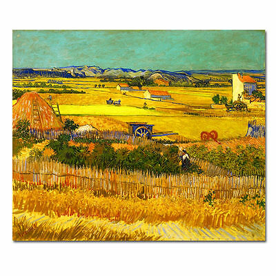 Canvas Print Picture Van Gogh Painting Home Decor Wall Art Golden Harvest Framed