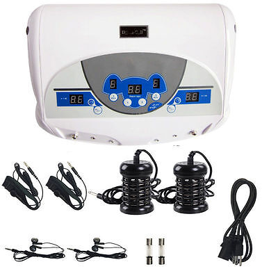 Dual-user Ionic Detox Machine Foot Bath Spa Tool Cleanse Salon w/ LCD MP3 Music