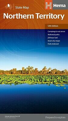 Hema Northern Territory State Map 12Th Edition - Camping Rest Areas Indexed