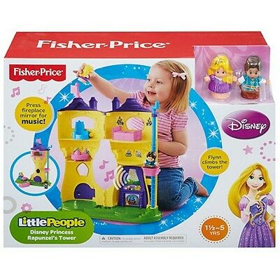 Brand New Fisher Price Little People Disney Princess Rapunzel's Tower Play Set