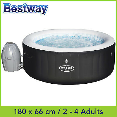 Bestway Lay Z Spa MIAMI AirJet, Inflatable Portable Outdoor Spa Hot Tub 2-4 ppl