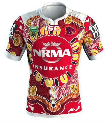 Brisbane Broncos 2017 Indigenous Jersey Sizes S - 7XL Available NRL ISC