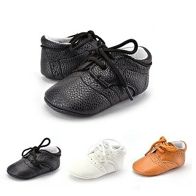 Baby Kid Boy Girl PU Leather Soft Sole Shoes Toddler Infant Prewalker Sneakers