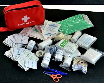 180pcs/pack Travel First Aid Kit Box Case Small supplies Waterproof