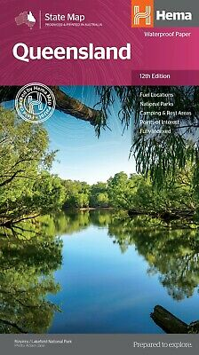 Hema Queensland State Map 12Th Edition - National Parks- Camping
