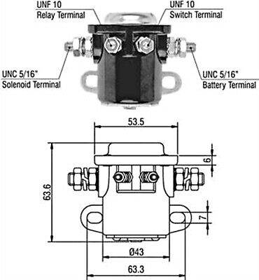 Ford Lincoln Mercury Visteon 12V Starter Motor Solenoid